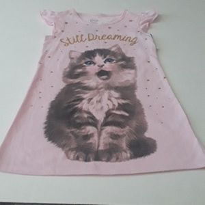 Wonder Nation Kitty Cat Pink Gown XS 4/5